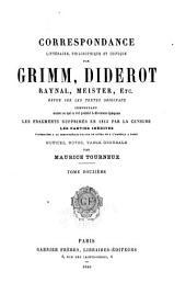Correspondance littéraire: Volume12