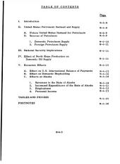An analysis of the economic and security aspects of the trans-Alaska pipeline: Volume 1