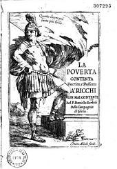 La povertà contenta: descritta e dedicata a' ricchi non mai contenti
