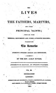 The lives of the fathers  martyrs  and other principal saints PDF