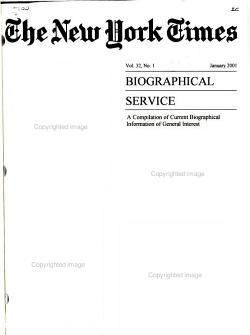 The New York Times Biographical Service PDF