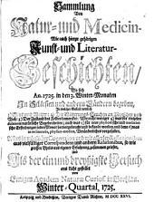 Sammlung von Natur- und Medicin- wie auch hierzu gehörigen Kunst- und Literatur-Geschichten so sich von 1717-26 in Schlesien und anderen Orten begeben ... und als Versuch ans Licht gestellet: Band 31