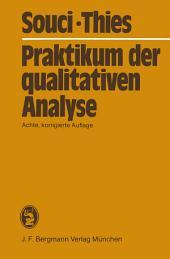 Praktikum der qualitativen Analyse: Ausgabe 8