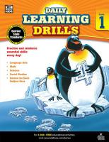 Daily Learning Drills  Grade 1 PDF