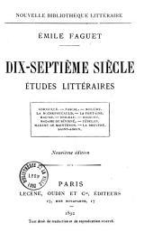 Dix-septième siècle: études littéraires