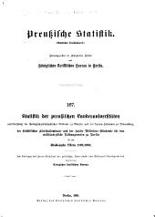 Preussische statistik: (Amtliches quellenwerk)..., Ausgabe 167
