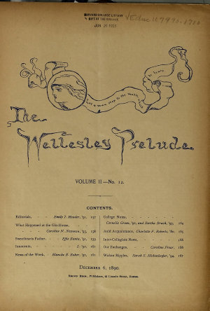 The Wellesley Prelude PDF