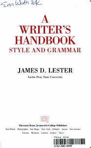 A Writer s Handbook PDF
