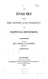 An Enquiry Into the Extent and Stability of National Resources