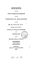Sermons on the most interesting subjects of the Christian religion PDF