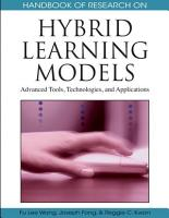 Handbook of Research on Hybrid Learning Models  Advanced Tools  Technologies  and Applications PDF