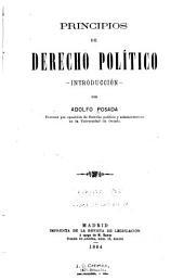 Principios de derecho político: introducción