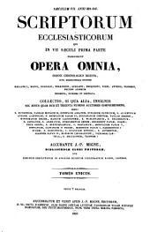 Patrologiae cursus completus ...: Series latina, Volume 80