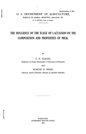 The Influence of the Stage of Lactation on the Composition and Properties of Milk