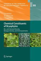 Chemical Constituents of Bryophytes PDF