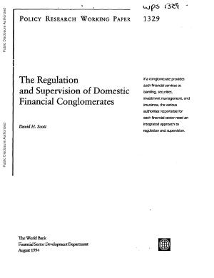 The Regulation and Supervision of Domestic Financial Conglomerates PDF