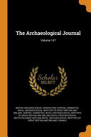The Archaeological Journal  Volume 147 PDF