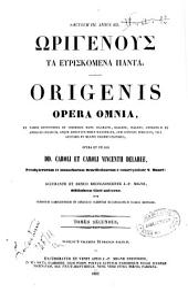*Patrologia greca: 12: Origenous ta euriskomena panta