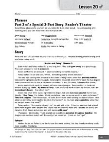 High Frequency Word Phrases Level 5  Creating Reader s Theater PDF