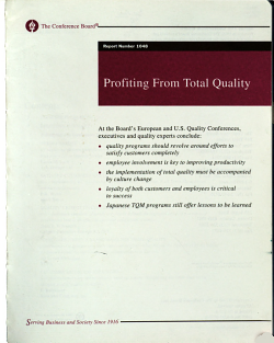 Profiting from Total Quality PDF