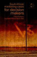 South African Marketing Cases for Decision Makers PDF