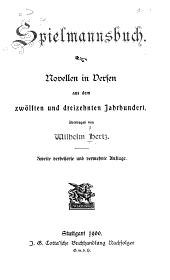 Spielmannsbuch: Novellen in Versen aus dem zwölften und dreizehnten Jahrhundert