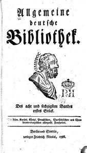 Allgemeine deutsche Bibliothek: Band 68