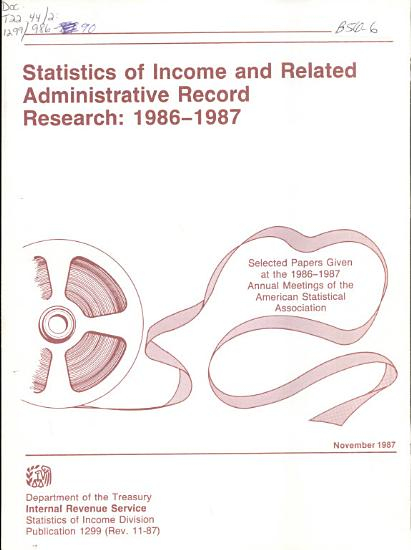 Statistics of Income and Related Administrative Record Research      PDF