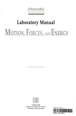 Physical Science Motion Forces PDF