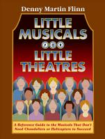 Little Musicals for Little Theatres PDF