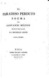 Il paradiso perduto: poema, Volume 1