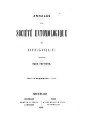 Annales de la Société entomologie de Belgique: Volumes9à11