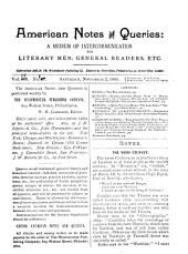 American Notes and Queries: Volume 4