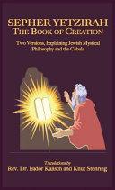 Sepher Yetzirah  The Book of Creation