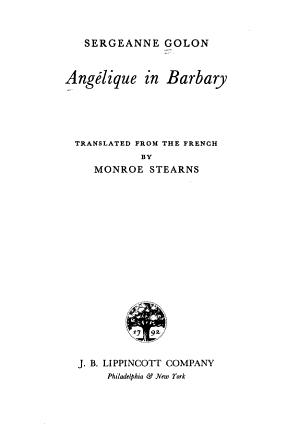 Ang  lique in Barbary PDF