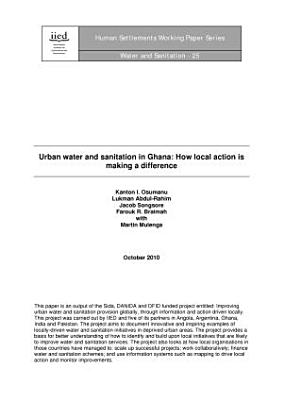 Urban Water and Sanitation in Ghana PDF