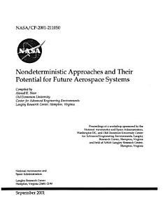 Nondeterministic Approaches and Their Potential for Future Aerospace Systems PDF