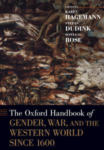 The Oxford Handbook of Gender  War  and the Western World since 1600 PDF