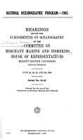 National Oceanographic Program  1965 PDF