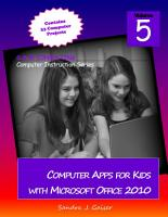 Computer Apps for Kids with Microsoft Office 2010 PDF