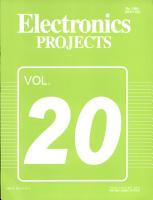 Electronics Projects Vol  20 PDF