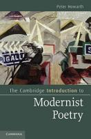 The Cambridge Introduction to Modernist Poetry PDF
