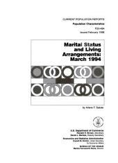 Marital status and living arrangements, March 1994
