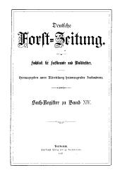 Deutsche Forst-Zeitung: Band 14