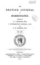The British Journal of Homoeopathy: Volume 14