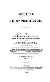 Medical jurisprudence: Volume 3