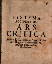 Systema accidentium: ars critica
