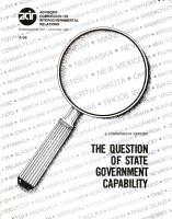 The Question of State Government Capability PDF