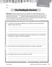 To Kill a Mockingbird Close Reading and Text-Dependent Questions