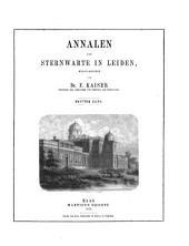 Annalen van de Sterrewacht te Leiden: Volume 3